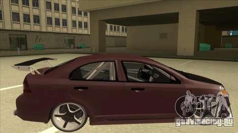 Chevrolet Aveo LT Tuning для GTA San Andreas вид сзади слева