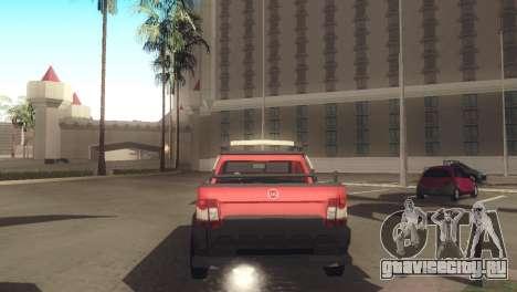 Fiat Strada Locker 2013 для GTA San Andreas вид справа