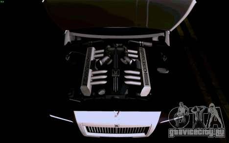 Rolls-Royce Ghost для GTA San Andreas салон