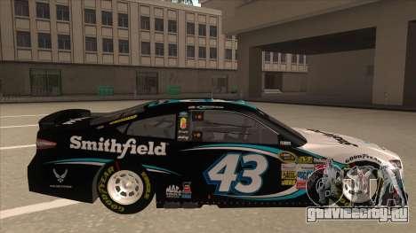 Ford Fusion NASCAR No. 43 Smithfield Foods для GTA San Andreas вид сзади слева