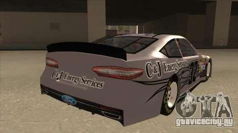 Ford Fusion NASCAR No. 32 C&J Energy services для GTA San Andreas вид справа