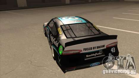 Ford Fusion NASCAR No. 43 Smithfield Foods для GTA San Andreas вид сзади