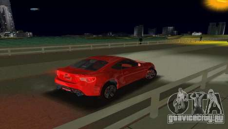 Subaru BRZ Type 1 для GTA Vice City вид изнутри