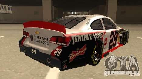 Chevrolet SS NASCAR No. 29 Jimmy Johns для GTA San Andreas вид справа