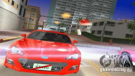 Subaru BRZ Type 1 для GTA Vice City вид сзади слева