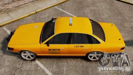 Taxi с новыми дисками для GTA 4 вид сзади слева