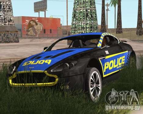 Aston Martin V12 Vantage Cop Edition для GTA San Andreas