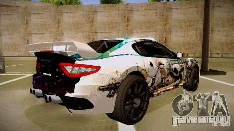 Maserati Gran Turismo MC 2009 для GTA San Andreas вид справа