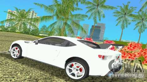 Subaru BRZ Type 4 для GTA Vice City вид справа