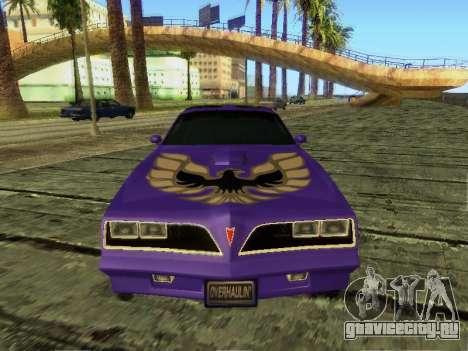 Pontiac Firebird Overhaulin для GTA San Andreas вид слева
