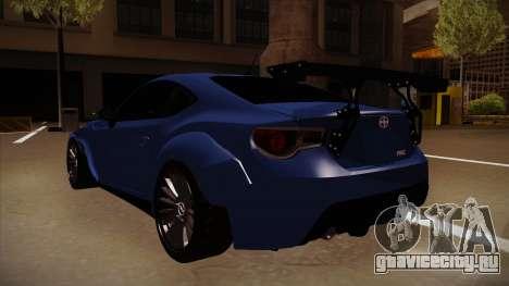 Scion FR-S Rocket Bunny для GTA San Andreas вид сзади