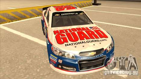 Chevrolet SS NASCAR No. 88 National Guard для GTA San Andreas вид слева