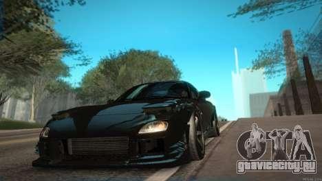 Mazda RX-7 STANCENATION для GTA San Andreas вид изнутри