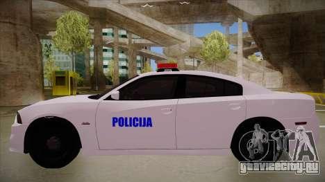 Dodge Charger SRT8 Policija для GTA San Andreas вид сзади слева