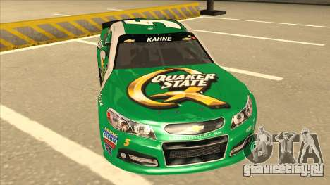 Chevrolet SS NASCAR No. 5 Quaker State для GTA San Andreas вид слева
