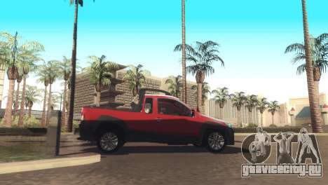 Fiat Strada Locker 2013 для GTA San Andreas вид сзади