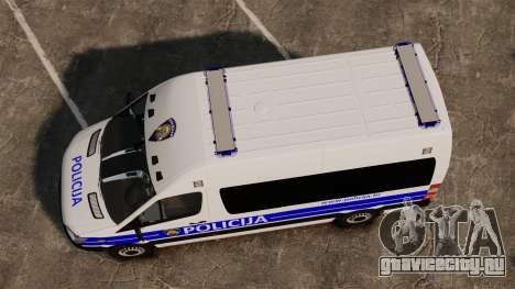 Mercedes-Benz Sprinter Croatian Police [ELS] для GTA 4 вид справа