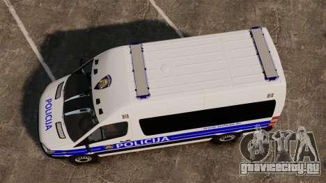 Mercedes-Benz Sprinter Croatian Police [ELS] для GTA 4 вид справа
