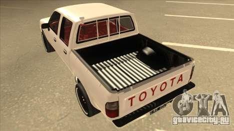 Toyota Hilux 2004 для GTA San Andreas вид сзади