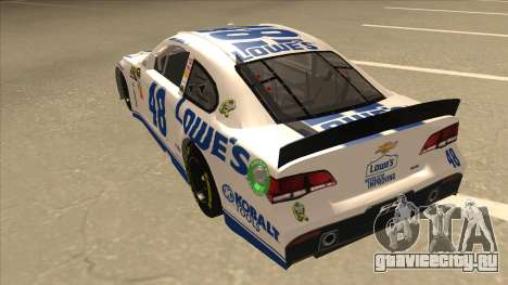 Chevrolet SS NASCAR No. 48 Lowes white для GTA San Andreas вид сзади