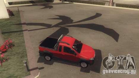 Fiat Strada Locker 2013 для GTA San Andreas вид сбоку