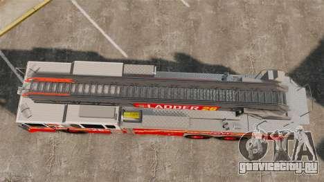Ferrara 100 Aerial Ladder FDNY 2013 [ELS] для GTA 4 вид справа