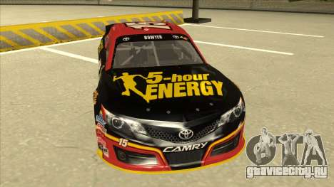 Toyota Camry NASCAR No. 15 5-hour Energy для GTA San Andreas вид слева
