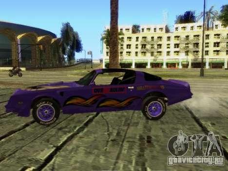 Pontiac Firebird Overhaulin для GTA San Andreas вид сзади