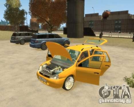 Лада Калина Универсал для GTA 4 вид сзади слева