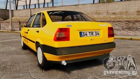Fiat Tempra SX.A Turkish Taxi для GTA 4 вид сзади слева