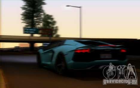 Lamborghini Aventador LP700-4 Vossen V2.0 Final для GTA San Andreas вид изнутри