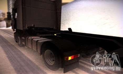 Scania R500 Topline для GTA San Andreas вид сзади