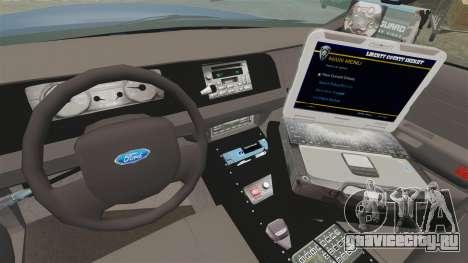 Ford Crown Victoria Virginia State Police [ELS] для GTA 4 вид сзади