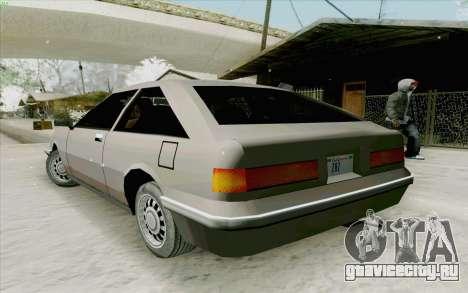 Manana Hatchback для GTA San Andreas вид справа