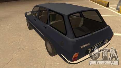 Renault 12 Break для GTA San Andreas вид сзади