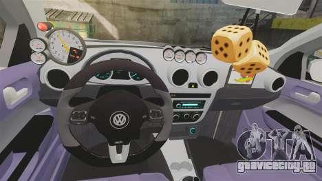 Volkswagen Gol G6 2013 Turbo Socado для GTA 4 вид изнутри