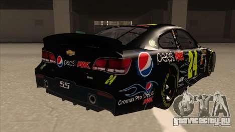 Chevrolet SS NASCAR No. 24 Pepsi Max AARP для GTA San Andreas вид справа