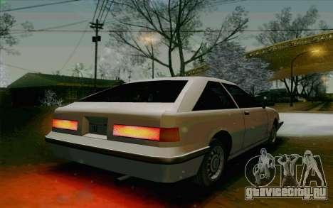 Manana Hatchback для GTA San Andreas вид сзади
