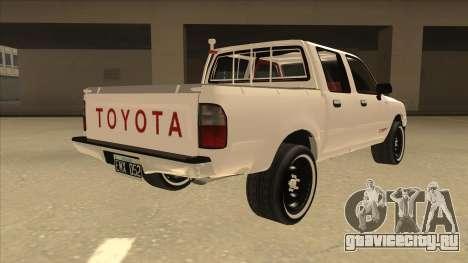 Toyota Hilux 2004 для GTA San Andreas вид справа