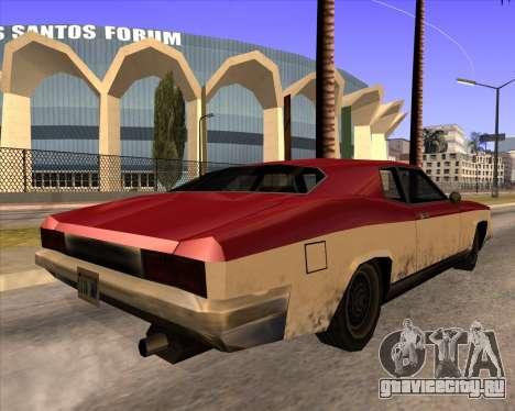 Buccaneer для GTA San Andreas вид слева