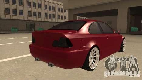 BMW M3 Tuned для GTA San Andreas вид справа