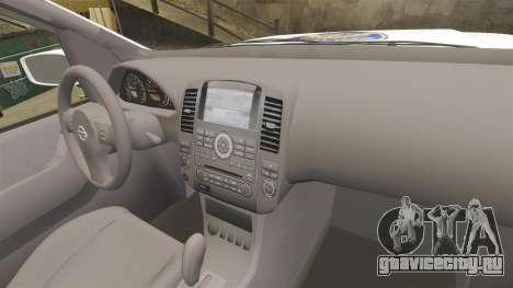 Nissan Pathfinder Croatian Police [ELS] для GTA 4 вид сзади