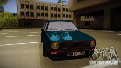 Volkswagen Golf MK2 Stance Nation by Razvan11 для GTA San Andreas вид слева