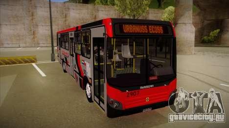 Busscar Urbanuss Ecoss MB OF 1722 M Busmania для GTA San Andreas вид слева
