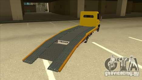 Mercedes-Benz Vario Towtruck для GTA San Andreas вид справа