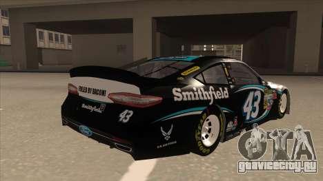 Ford Fusion NASCAR No. 43 Smithfield Foods для GTA San Andreas вид справа