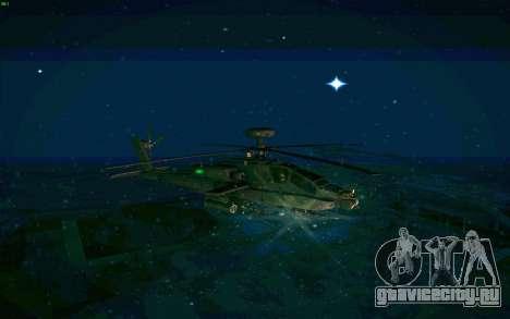AH-64 Apache для GTA San Andreas вид сзади слева