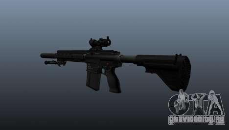 Автоматическая винтовка HK417 v1 для GTA 4 второй скриншот