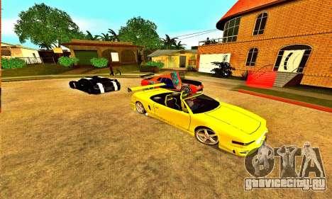 Infernus Cabrio Edition для GTA San Andreas вид сзади слева