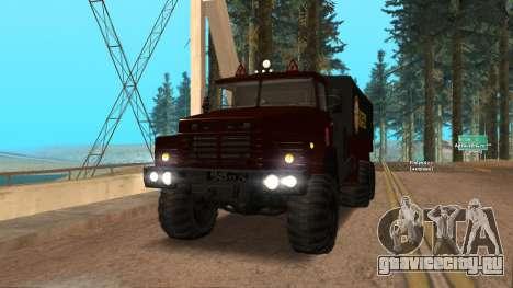Краз Автошкола V.2.0 для GTA San Andreas вид сзади